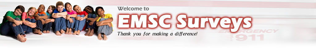 Welcome to EMSC Surveys - Thanks for making a difference!